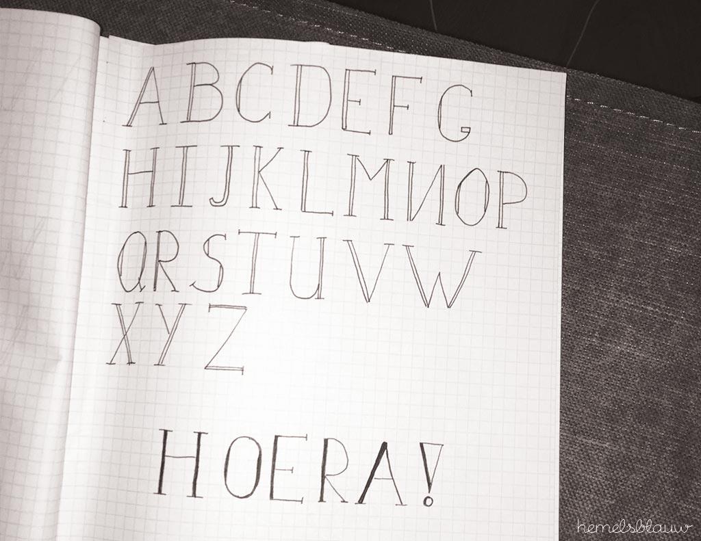 alfabet - handletteren