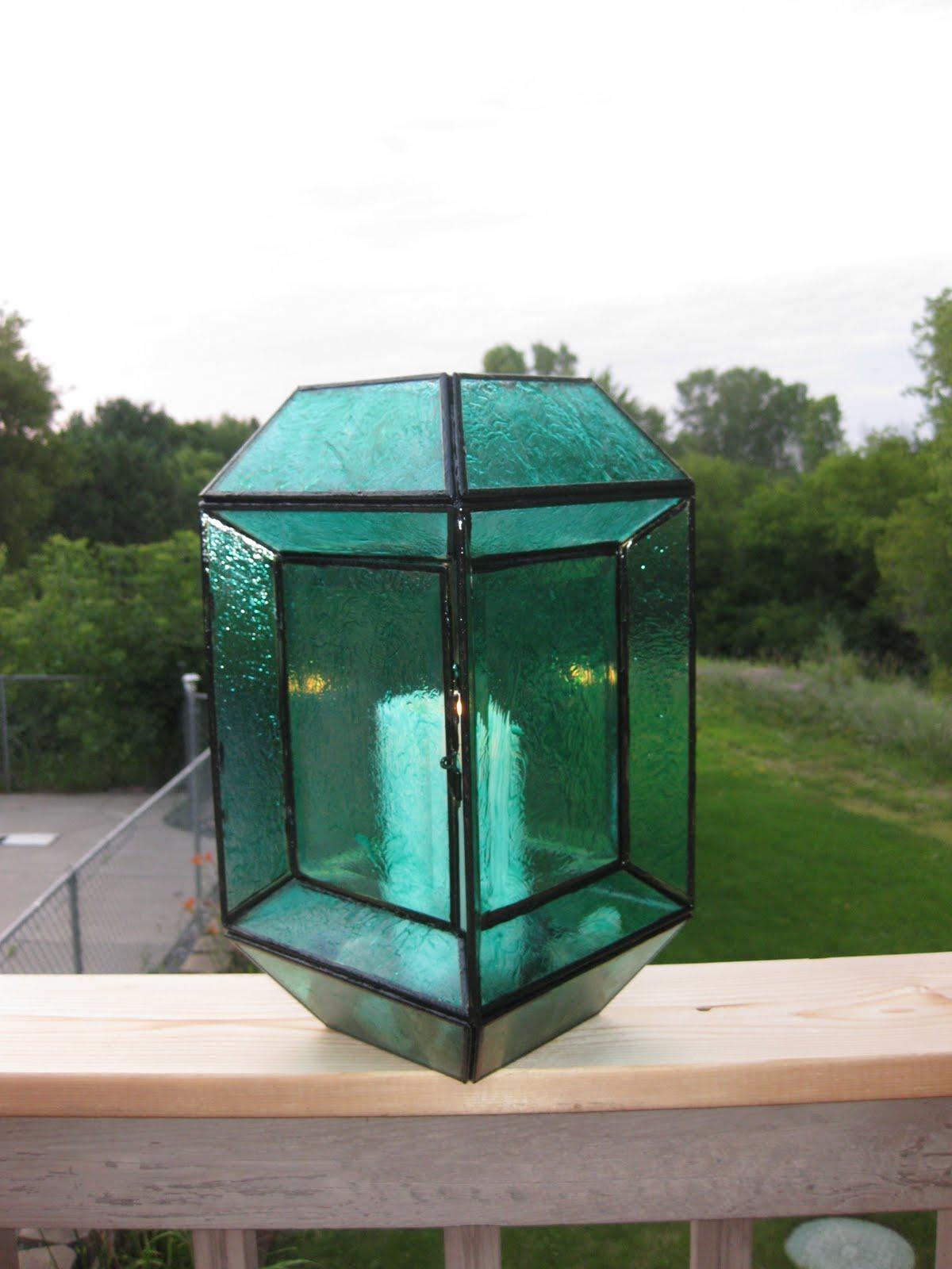 mod podge gekleurd glas