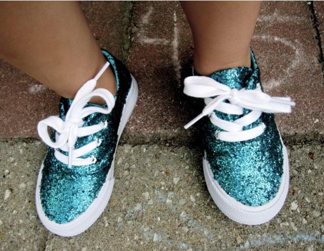 mod podge glitter schoenen
