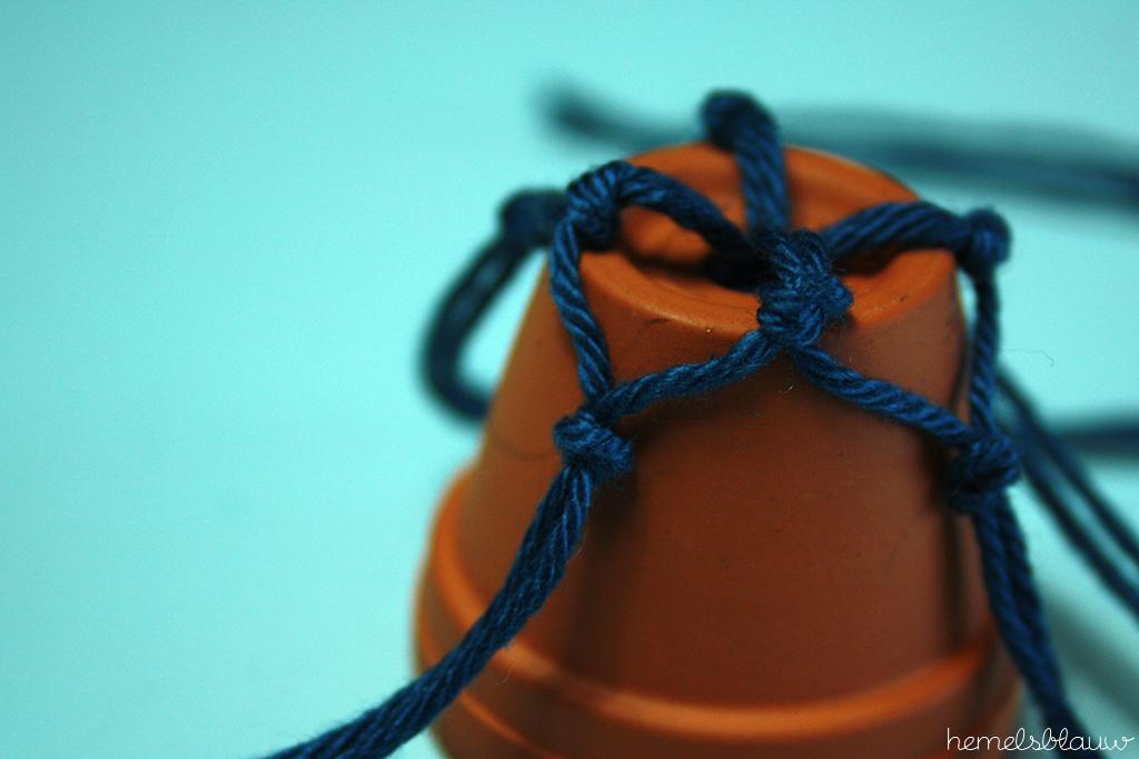 knopen mini plantenhanger hemelsblauw